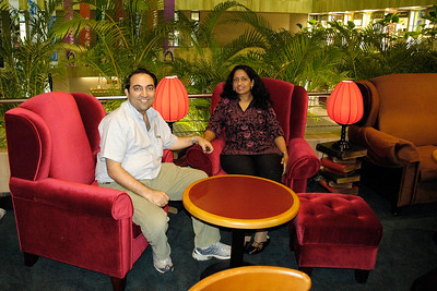 Anu & Suchit in Singapore Changi Airport 2005