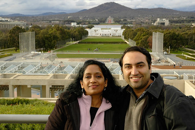 Anu & Suchit in Canberra, Australia, July 2005.
