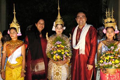 Anu & Suchit in Siem Reap, Cambodia 2005