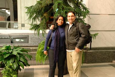 Anu & Suchit in Canada, Nov'2004.