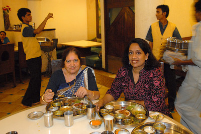 Amma and Anu at the table