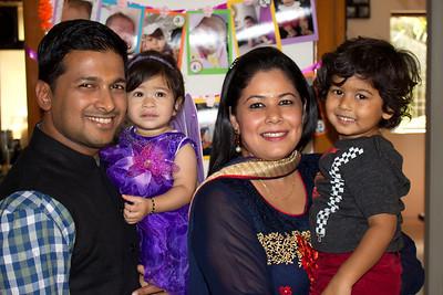 Anushka, Armaan, Sumit, and Priya at Anushka's Birthday Celebrations at Marol, Mumbai.