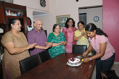 Sandhya's B'day Celebration at home in Eden-4, Hiranandani Gardens, Powai Lake, Mumbai, India.