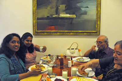 Visit to Club Mahindra Resort, Varca Beach, Goa. Having meals together.