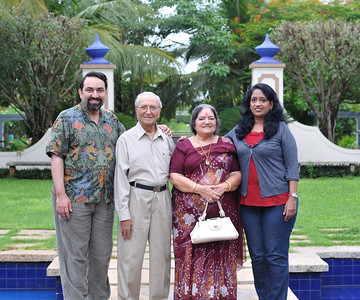 Suchit, Papa, Amma and Anu in Goa. Visit to Club Mahindra Resort, Varca Beach, Goa.