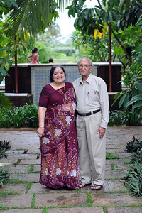 Amma and Papa at the Club Mahindra, Goa resort. Visit to Club Mahindra Resort, Varca Beach, Goa.
