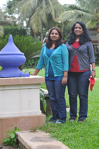 Anu & Sandhya at CM Goa. Visit to Club Mahindra Resort, Varca Beach, Goa.