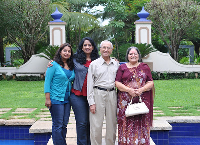 Sandhya, Anu, Papa and Amma in Goa. Visit to Club Mahindra Resort, Varca Beach, Goa.