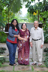 Anu with Papa and Amma in Goa. Visit to Club Mahindra Resort, Varca Beach, Goa.
