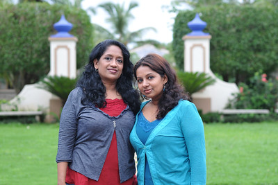 Anu and Sandhya at the Club Mahindra, Goa resort.  Visit to Club Mahindra Resort, Varca Beach, Goa.