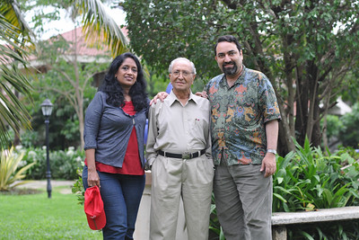 Papa with Anu & Suchit in Goa. Visit to Club Mahindra Resort, Varca Beach, Goa.