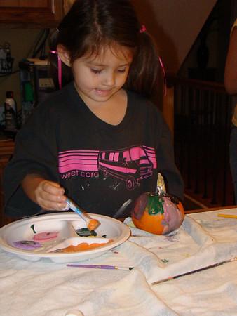 Family Fun Painting Pumpkins
