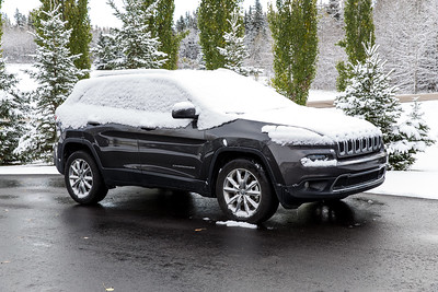 Snow On My Rented Jeep Cherokee