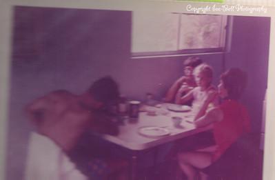 1970 Lake of the Ozarks; Sunday Morning Breakfast; Richard, Floy, Kathy and Karen Stephens