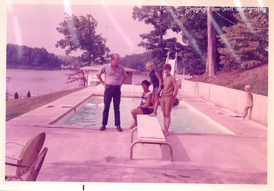 1970 Lake of the Ozarks; Floy and Kathy and Karen and Keney Stephens