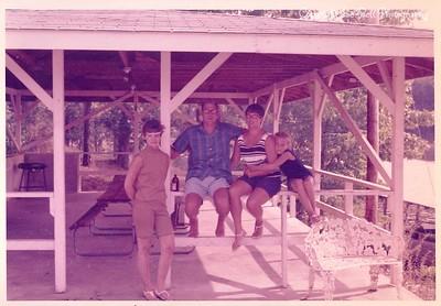 1970 Lake of the Ozarks; Richard, Floy, Kathy and Karen Stephens