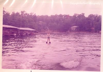 1970 Lake of the Ozarks; Kathy Ice Skiing