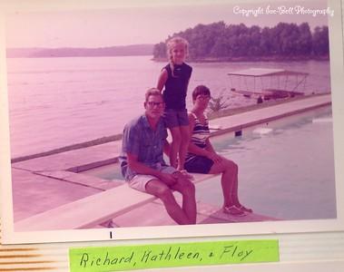 1970 Lake of the Ozarks; Richard, Floy and Kathy