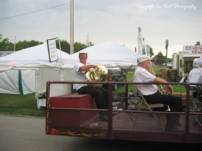 07/28/03  Richard playing the tuba with the Shrine Band in a parade at the fair in Springfield.