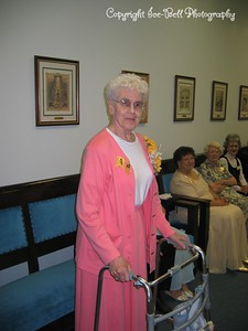 6/10/03  Eleanor White after she recieved her 50 year pin with Eastern Star.
