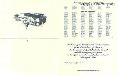 140 Congress Invite to 1995 Conference