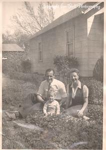 Richard Ice, Lloyd Ice (dad) and Alfreda Ice (mom) in 1941 or 1942