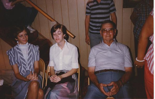 Patty Cook, Kathy Klein, Grandpa Gress