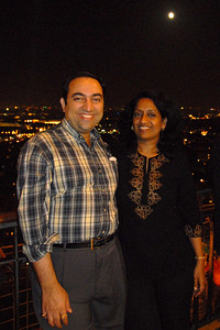 Suchit & Anu at the Eiffel Tower, Paris, France