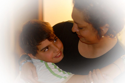 Poonam with her son in Meudon, Paris, France.