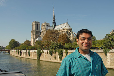 Piyush at Notre Dame, Paris, France