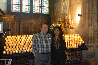 Anu & Suchit in Notre Dame, Paris, France