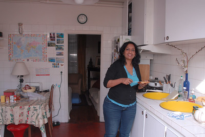Anu at Poonam's home at Meudon, Paris, France