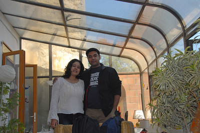 Priya and Piyush at Poonam's home at Meudon, Paris, France