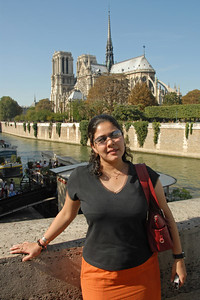 Priya at Notre Dame, Paris, France