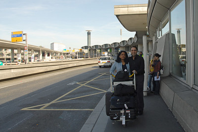 Anu & Suchit land in CDG, Charles De Gaulle, Airport, Paris, France