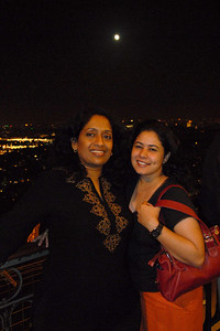 Anu & Priya on the Eiffel Tower, Paris, France