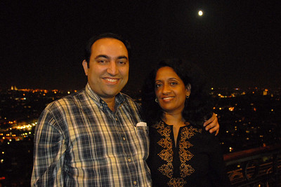Suchit & Anu on top of the Eiffel Tower, Paris, France