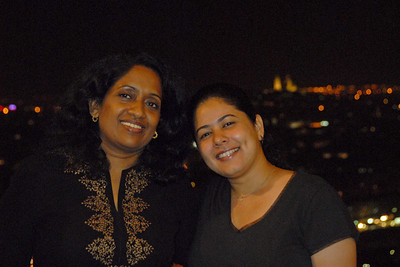 Anu & Priya on top of Eiffel Tower, Paris, France