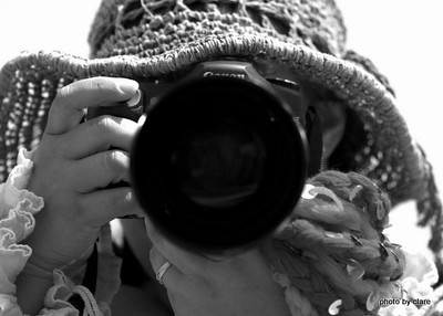 This shot was taken by my friend Clare. She is a great photographer. This was one she took taking a picture of me taking a picture of her.
