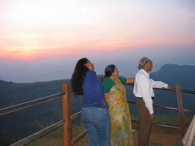 Anu, Amma and Papa at Matheran.