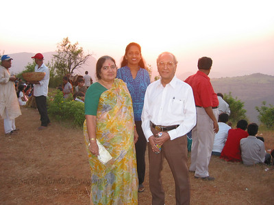 Sunset point at Matheran with Papa, Amma & Anu.  Trip to Matheran to take parents out on a forced-holiday by their children. :)