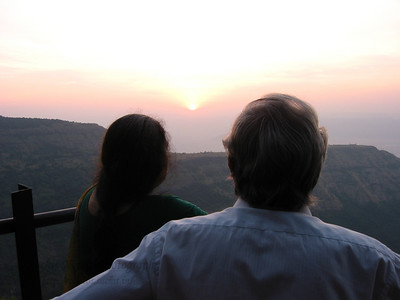 Watching the Sun going down at Matheran.  Trip to Matheran to take parents out on a forced-holiday by their children. :)