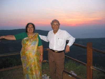 Papa & Amma at Matheran.  Trip to Matheran to take parents out on a forced-holiday by their children. :)