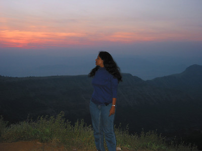 Anu at Matheran.