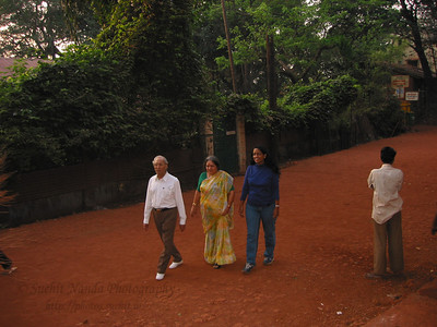 Taking a walk in Matheran. Trip to Matheran to take parents out on a forced-holiday by their children. :)