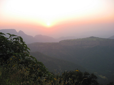 Sunset point at Matheran.