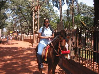 Anu enjoys a horse ride. Trip to Matheran to take parents out on a forced-holiday by their children. :)