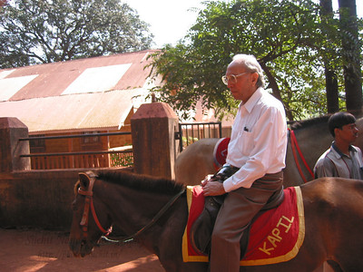 Papa on a horse in Matheran.