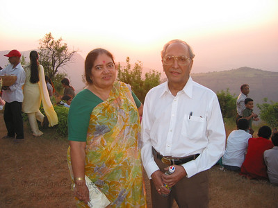 Sunset point at Matheran. Mom and Dad loved the view.  Trip to Matheran to take parents out on a forced-holiday by their children. :)