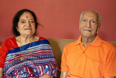 Amma (Sharda) and Papa (Shashi) at home. Kiran Mausji & Satish Mausaji's visit to Powai, Mumbai in October 2018.